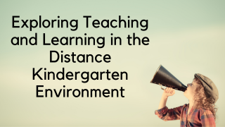 Exploring Teaching and Learning in the Distance Kindergarten Environment