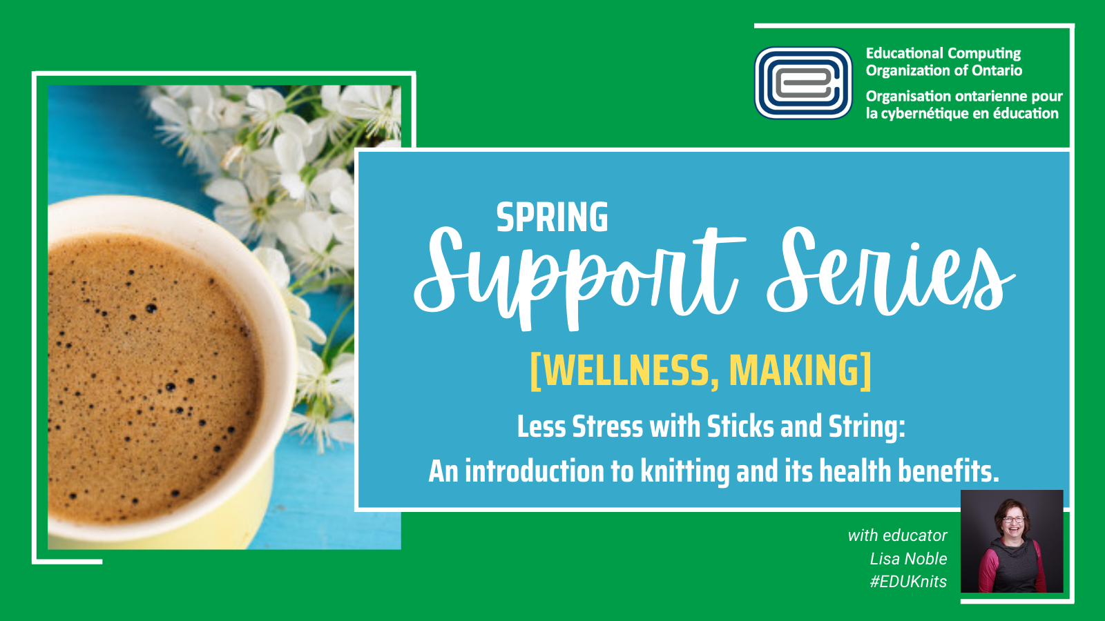 ECOO Support Series Spring Lisa Noble #EDUKnits