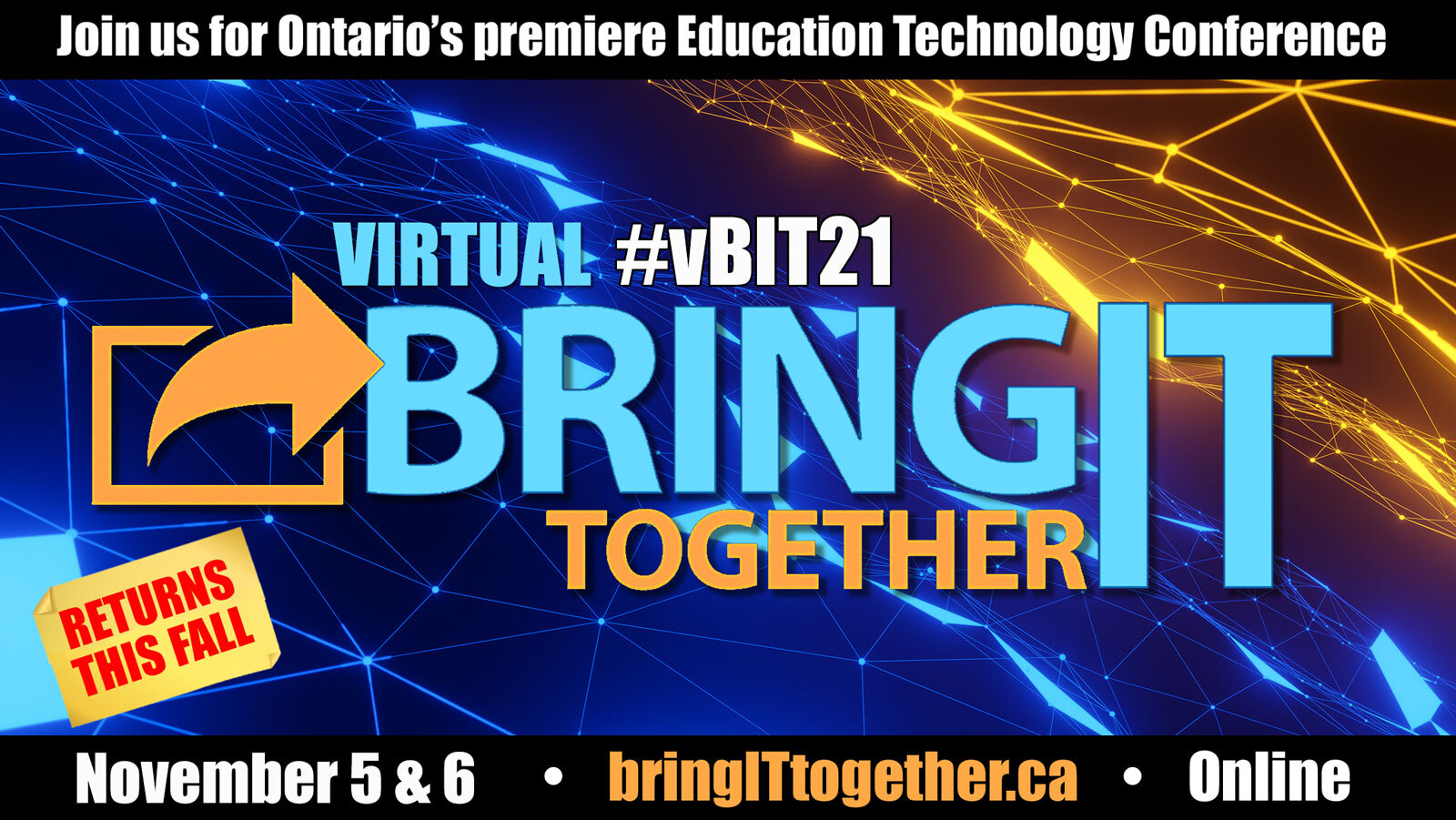 #BIT21 Bring IT Together! conference with OASBO returns in November